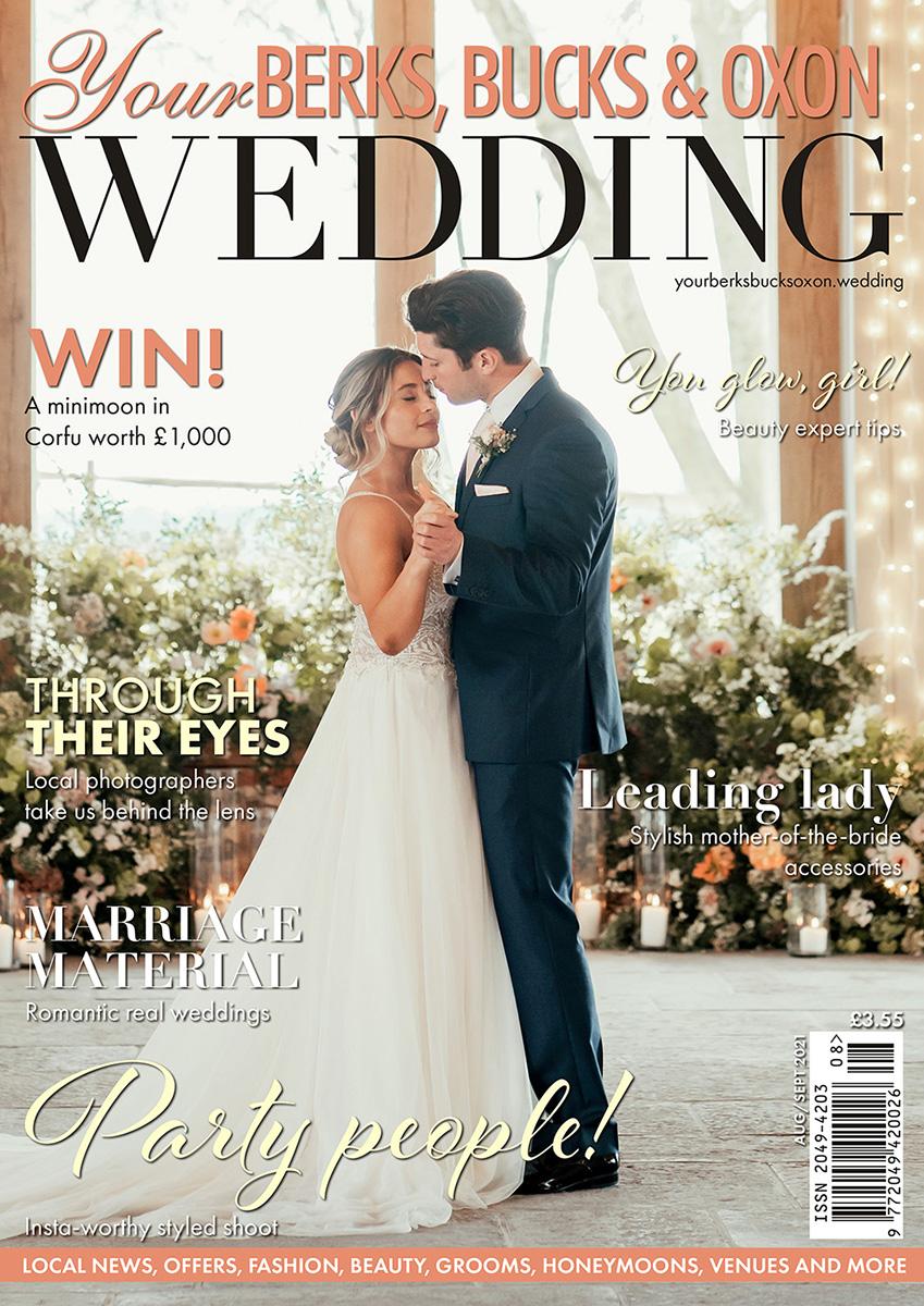 Rackleys cover of Your Bucks Berks & Oxon Wedding Magazine
